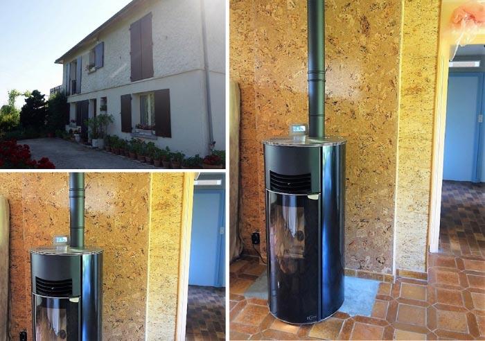 Poêle à granulés de bois (pellets) Hoben en Appoint chauffage à La Croix En Touraine  37 Indre et Loire-Indre et Loire (37)