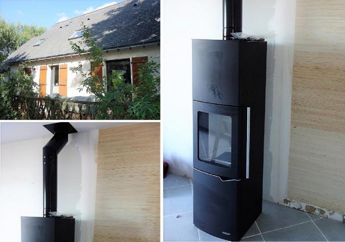 Poêle à bois bûches Palazzetti en Appoint chauffage à Fondettes  37 Indre et Loire-Indre et Loire (37)