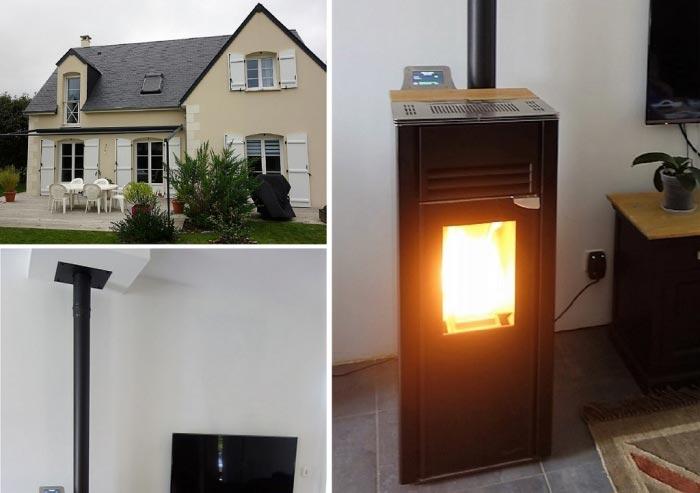 Poêle à granulés de bois en Appoint chauffage à Ambillou 37 Indre et Loire-Indre et Loire (37)