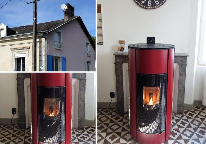 Poêle à granulés de bois (pellets) Palazzetti en Appoint à Dissay  72 Sarte -Sarthe (72)