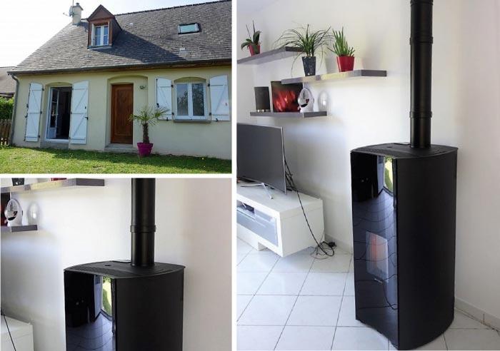 Poêle à granulés de bois Palazzetti en appoint  chauffage électrique  à saint étienne de chigny 37 Indre et Loire
