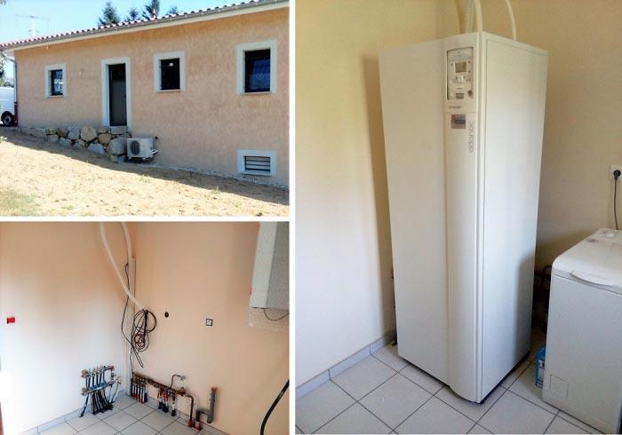 Installation pompe à chaleur air eau Atlantic Extensa Duo 8