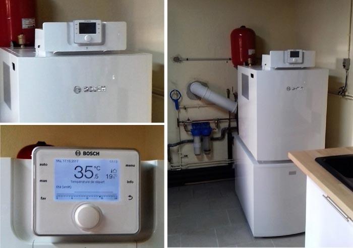 Installation d'une chaudière fioul à condensation OLIO CONDENS 7000F BOSCH, AUNEUIL, 60390, OISE