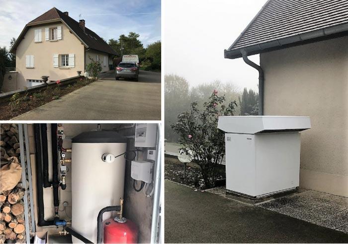 Pompe à chaleur Aérothermique (PAC Air/eau) Stiebel Elton WPL23E à Vaux sous Aubigny 52 Région Champagnes Ardennes