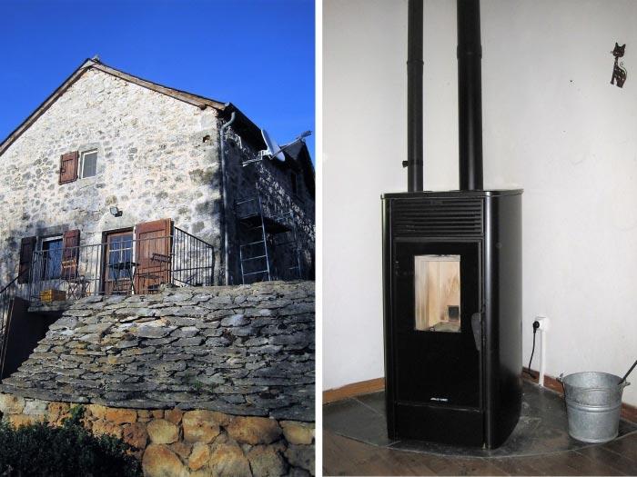 Installation d'un poêle à granulés de bois (pellets) Jolly Mec-Lozère (48)