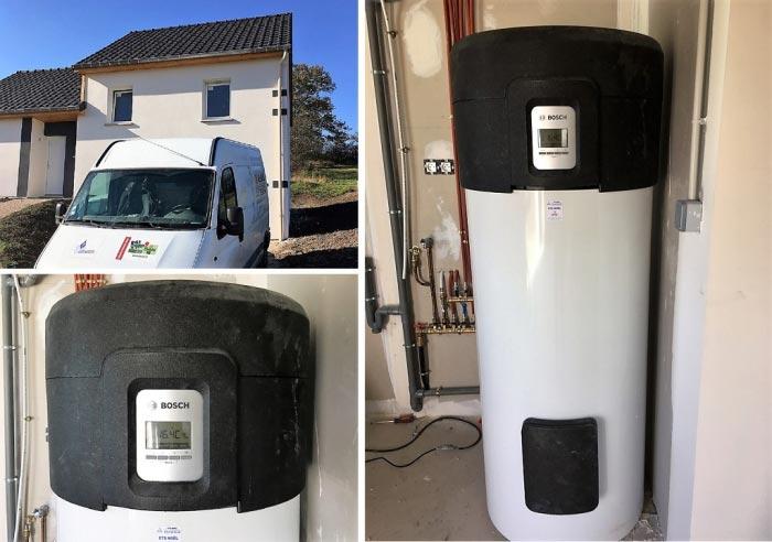 Installation d'un chauffe eau thermodynamique BOSCH