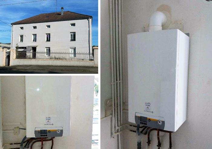 Installation d'une chaudière gaz condensation (haute performance énergetique) De Dietrich