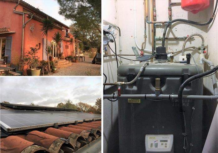 Réparation système solaire Rotex et évaluation de l'ensemble de l'installation à Berre les Alpes 06 Alpes Maritimes