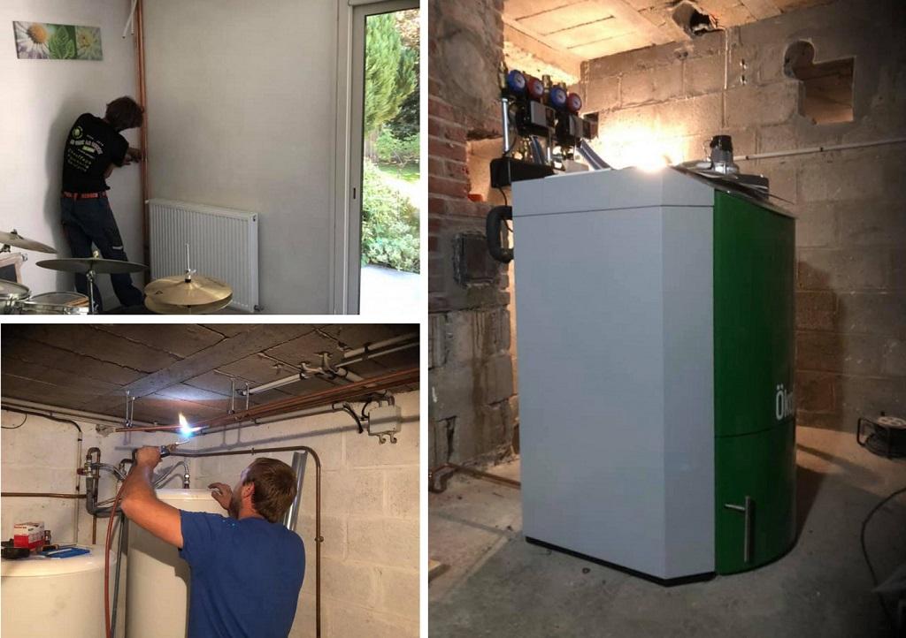 Entreprise RGE, qualibois, spécialisée OKÖFEN, Installation de radiateurs et d'une chaudière à granulés OKÖFEN Classique