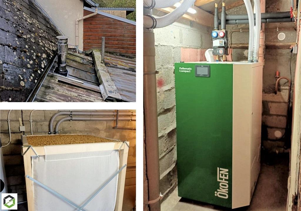 Entreprise RGE qualibois - spécialisée chaudière à granulés OKOFEN - Installation d'une chaudière à granulés de bois