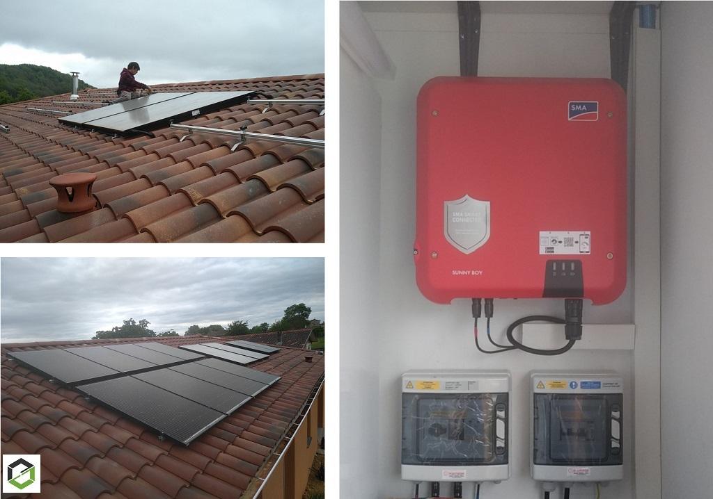 RGE QualiPV - Fourniture et pose d'un générateur photovoltaïque SOLARWATT de 3 kWc monophasé sans stockage en surimposition pour la vente surplus