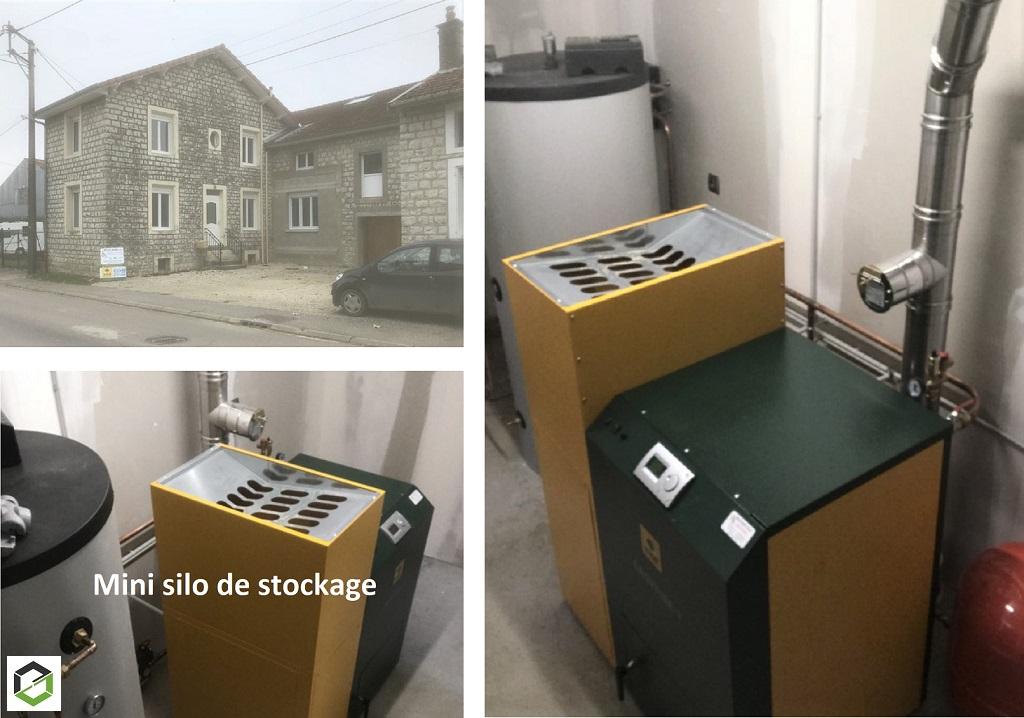 Installation chauffage central avec chaudière à granulés de bois KWB