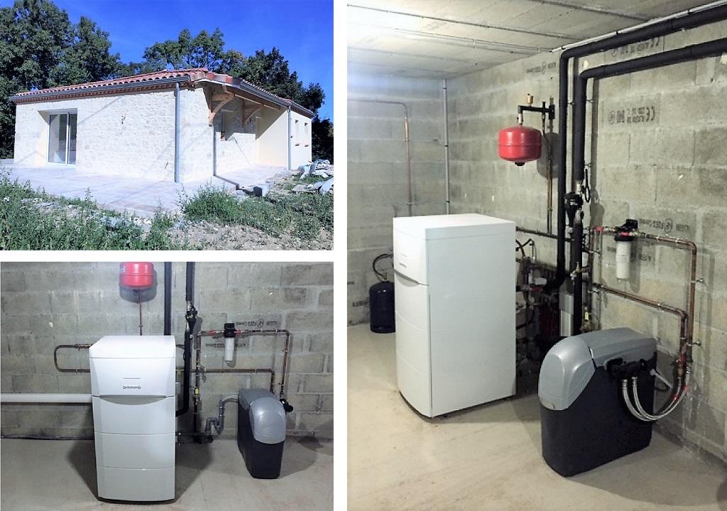 ETS VELLARD. Chauffage installation QualiPac RGE d' une pompe à chaleur De Dietrich Alezio. LOT ET GARONNE 47.AGEN