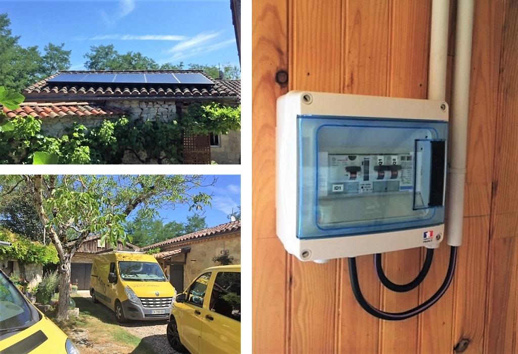 ETS VELLARD. Photovoltaïque Autoconsommation  - Maison d'habitation 47 LOT ET GARONNE. AGEN-Lot et Garonne (47)