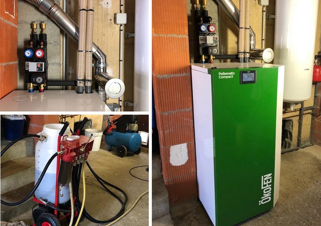 ETS VELLARD - instalallation QualiBois RGE chaudière granulés de bois Okofen compact 10kw. 47 LOT ET GARONNE - AGEN