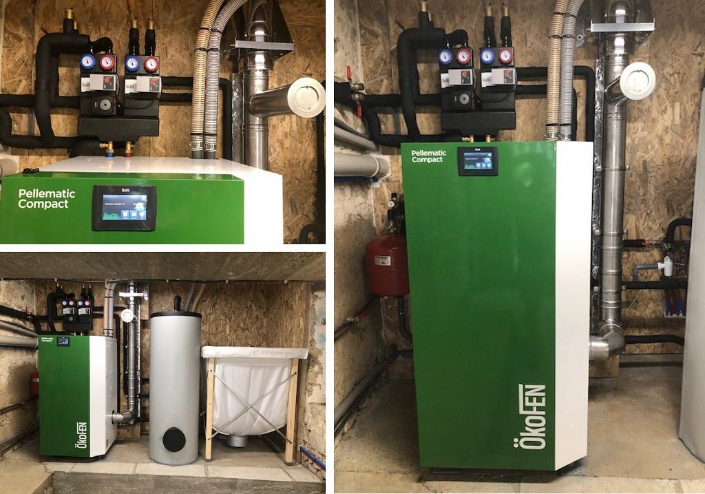 ETS VELLARD - instalallation QualiBois RGE chaudière granulés de bois Okofen compact 16kw.47 LOT ET GARONNE - AGEN