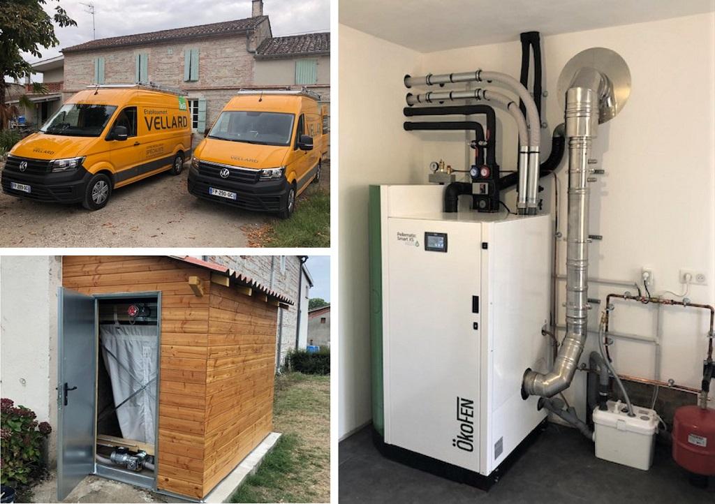 ETS VELLARD. Chauffage Installation QualiBois RGE chaudière granulés de bois Okofen SMART XS à chargement automatique. 82 TARN ET GARONNE -Tarn et Garonne (82)