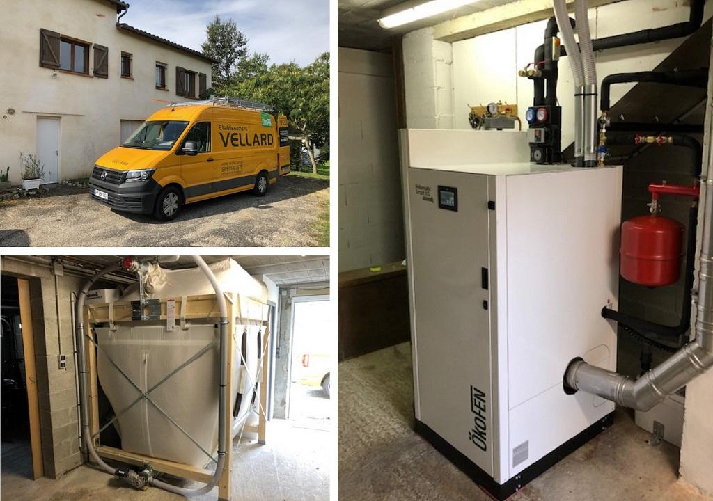 ETS VELLARD - Chauffage Installation QualiBois RGE chaudière granulés de bois Okofen SMART XS. 47- LOT ET GARONNE. AGEN -Lot et Garonne (47)