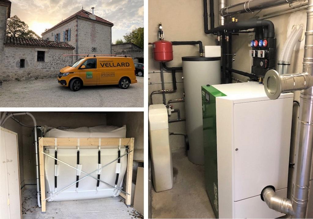ETS VELLARD - instalallation QualiBois RGE chaudière granulés de bois Okofen compact 18kw-Lot et Garonne (47)