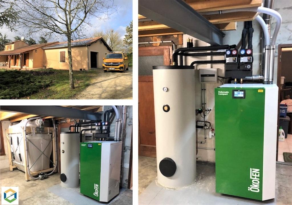 ETS VELLARD - instalallation QualiBois RGE chaudière granulés de bois Okofen compact 10kw