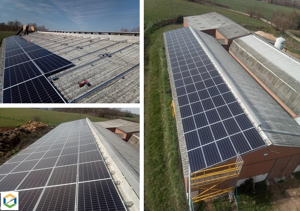 Production d'électricité solaire photovoltaïque 36 KWc pour revente