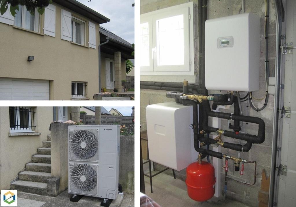 Installation d'une pompe à chaleur AIR/EAU  PAC DIMPLEX-Aveyron (12)