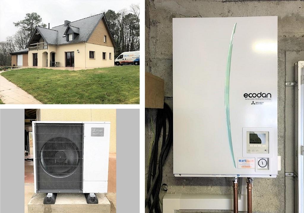 Installation d'une pompe à chaleur (PAC) Mitsubishi Electric
