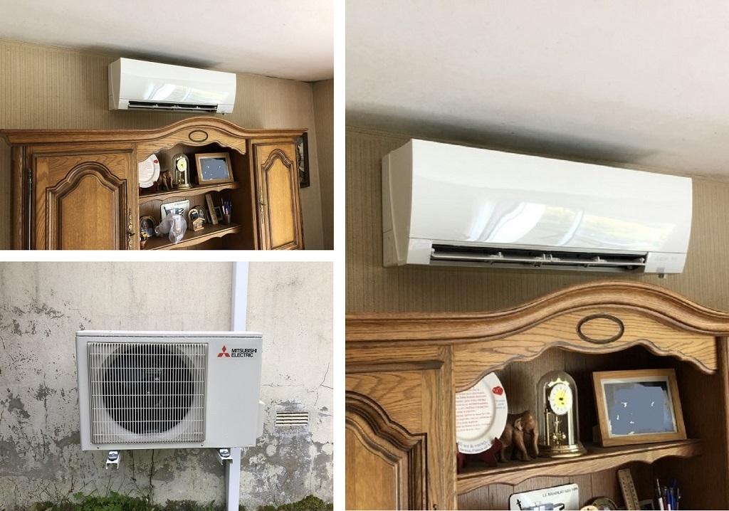 Installation d'une pompe à chaleur Mitsubishi Electric-Morbihan (56)