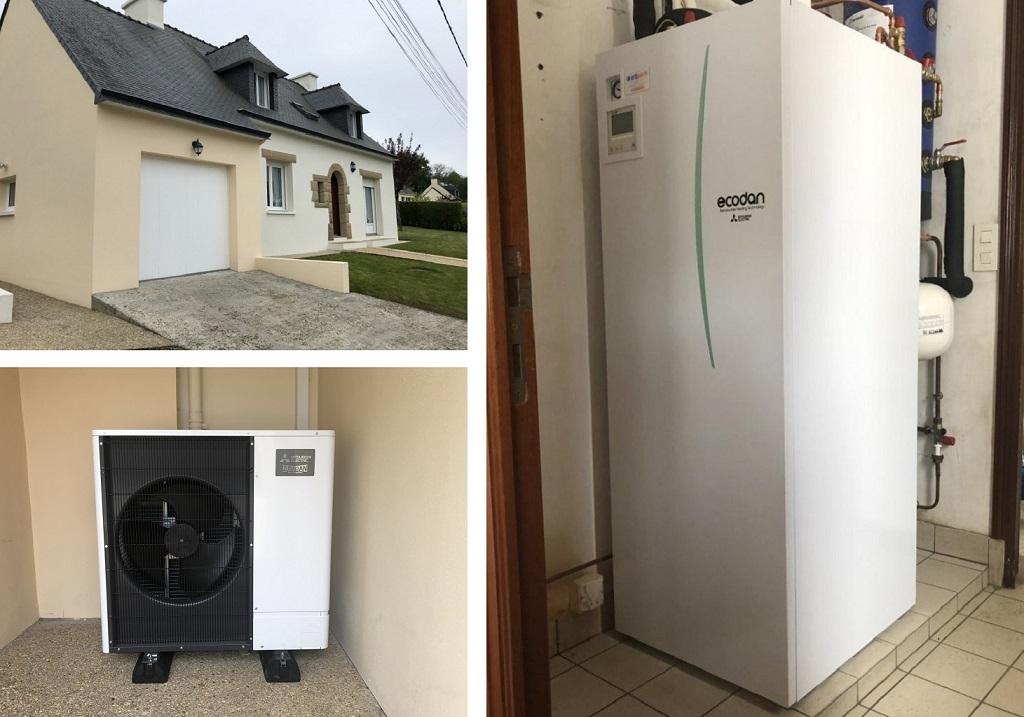 Installation d'une pompe à chaleur (pac) mitsubishi electric -Morbihan (56)