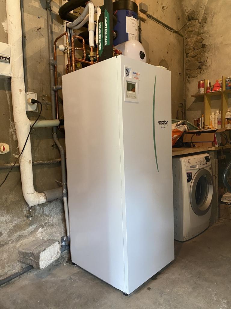 installation pompe à chaleur mitsubishi electric