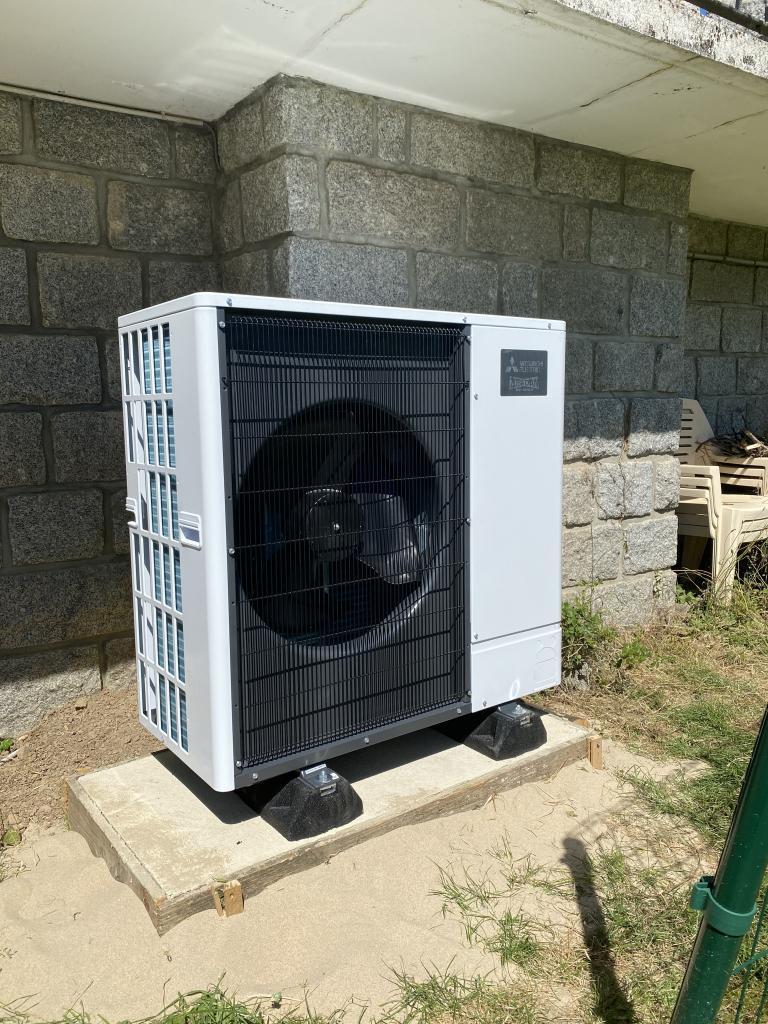installation pompe à chaleur mitsubishi electric silence