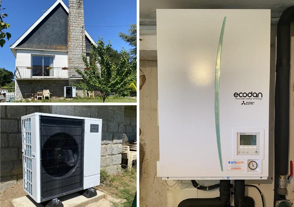 installation pompe à chaleur mitsubishi electric silence-Morbihan (56)