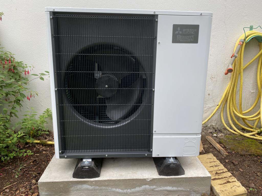 Installation d'une pompe à chaleur mitsubishi electric zubadan silence