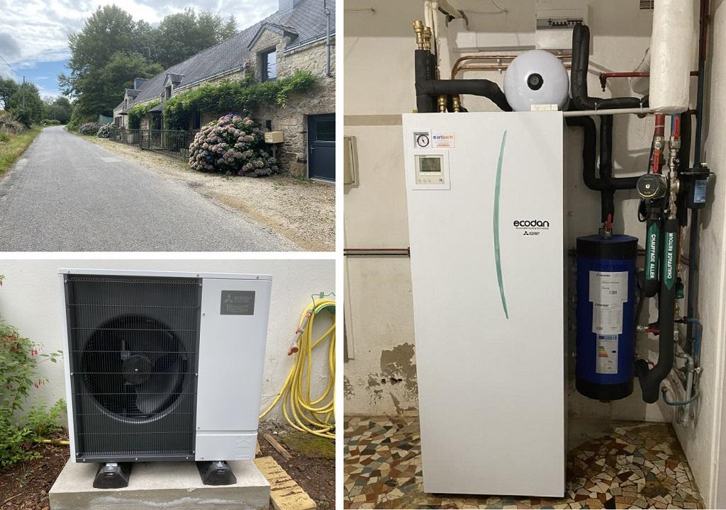 Installation d'une pompe à chaleur mitsubishi electric zubadan silence-Morbihan (56)