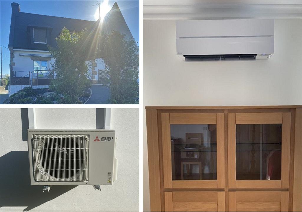 installation du pompe à chaleur air air mitusbishi electric-Morbihan (56)