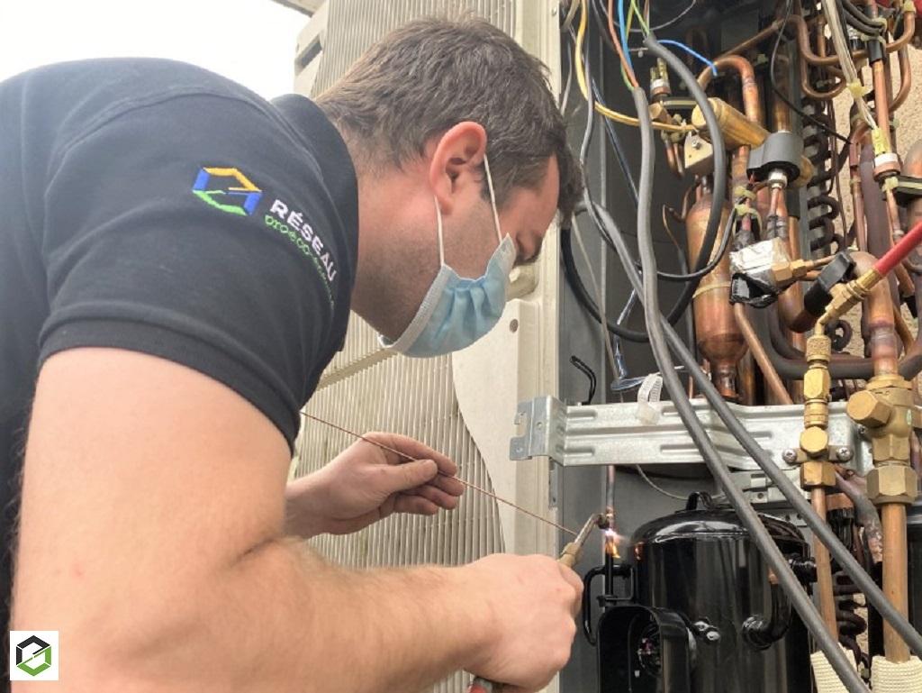 Changement compresseur de PAC mitsubishi electric