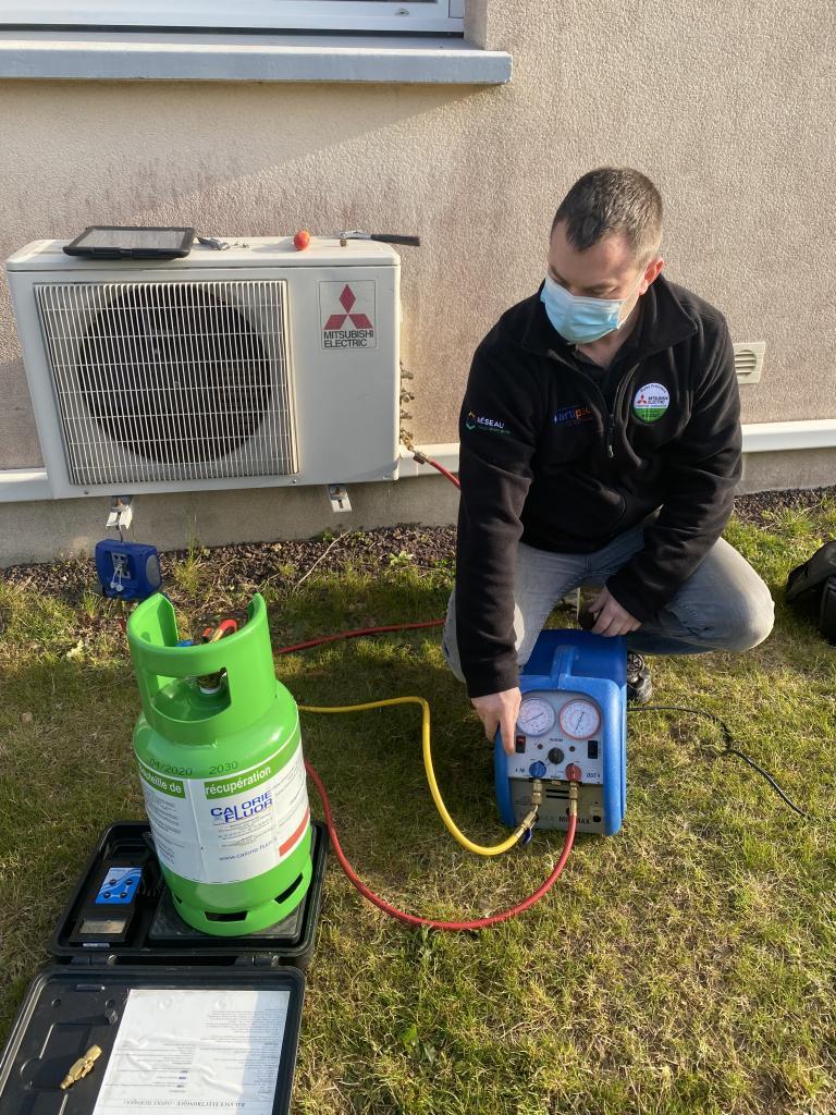 Récupération gaz frigorifique Mitsubishi Electric-Morbihan (56)