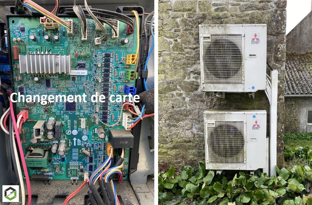Dépannage pompe à chaleur (climatisation) Mitsubishi Electric-Morbihan (56)