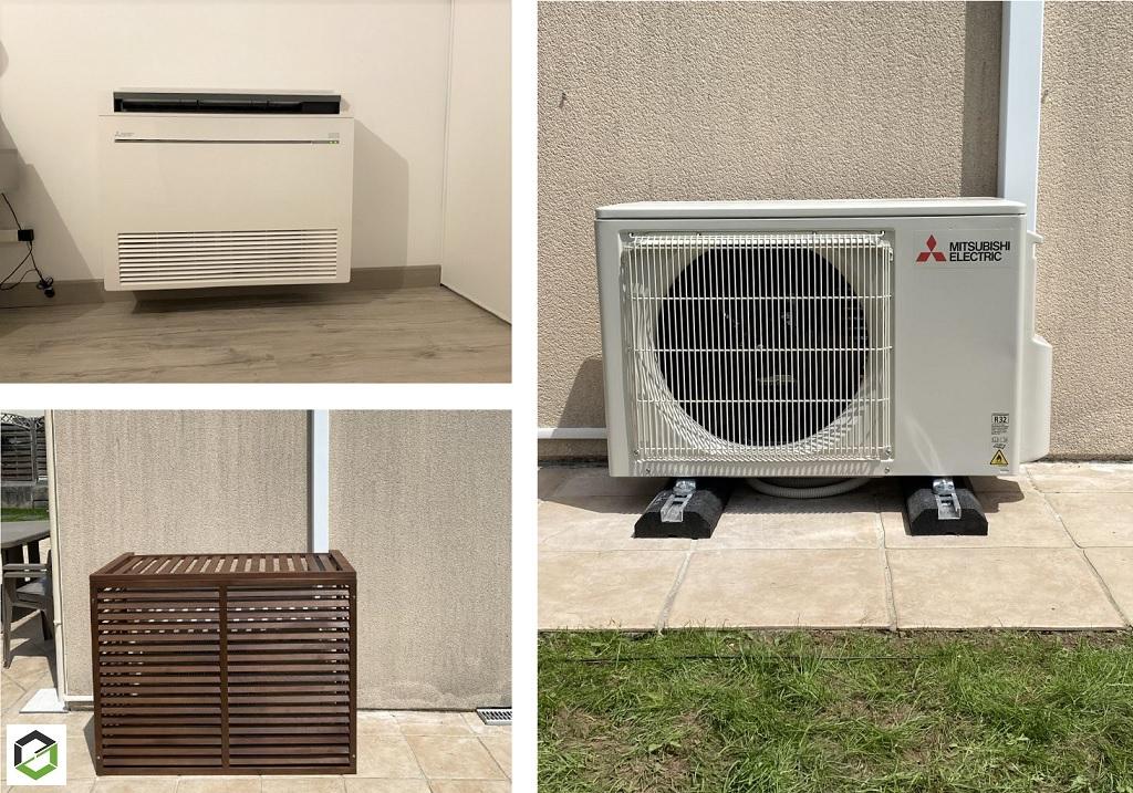 Installation pompe à chaleur air-air (clim) Mitsubishi Electric