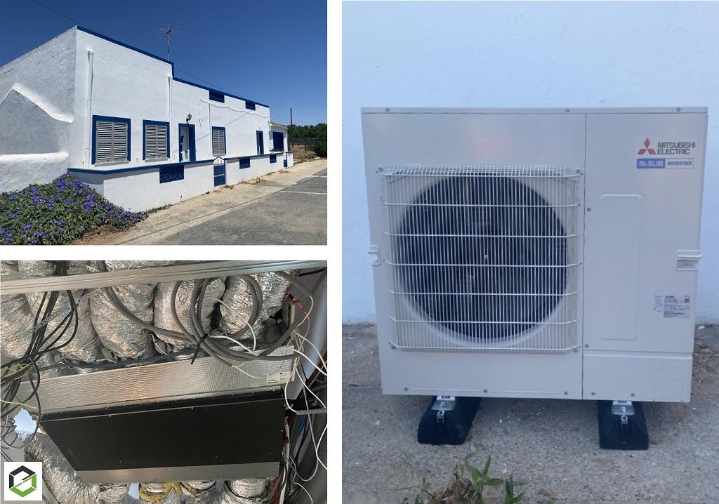 Installation climatisation gainable mitsubishi electric au Portugal -Morbihan (56)