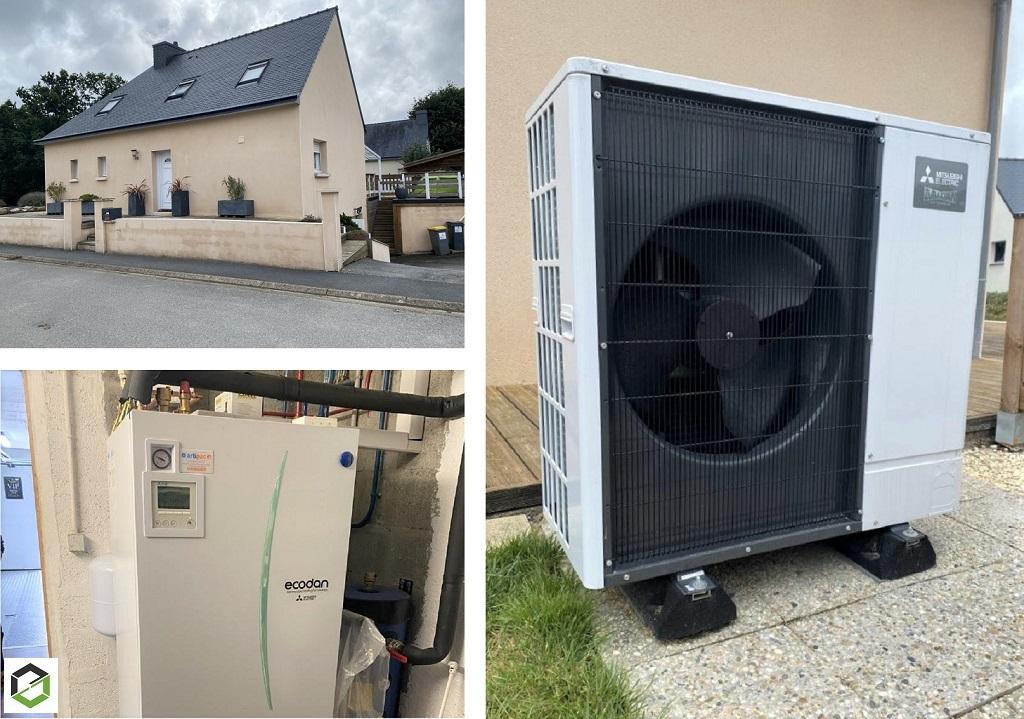 Artisan RGE QualiPAC - installation d'une pompe à chaleur Mitsubishi Electric