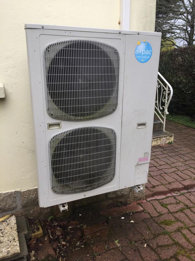 Installation Pompe à chaleur ( PAC ) Airpac à Plouharnel 56 Morbihan