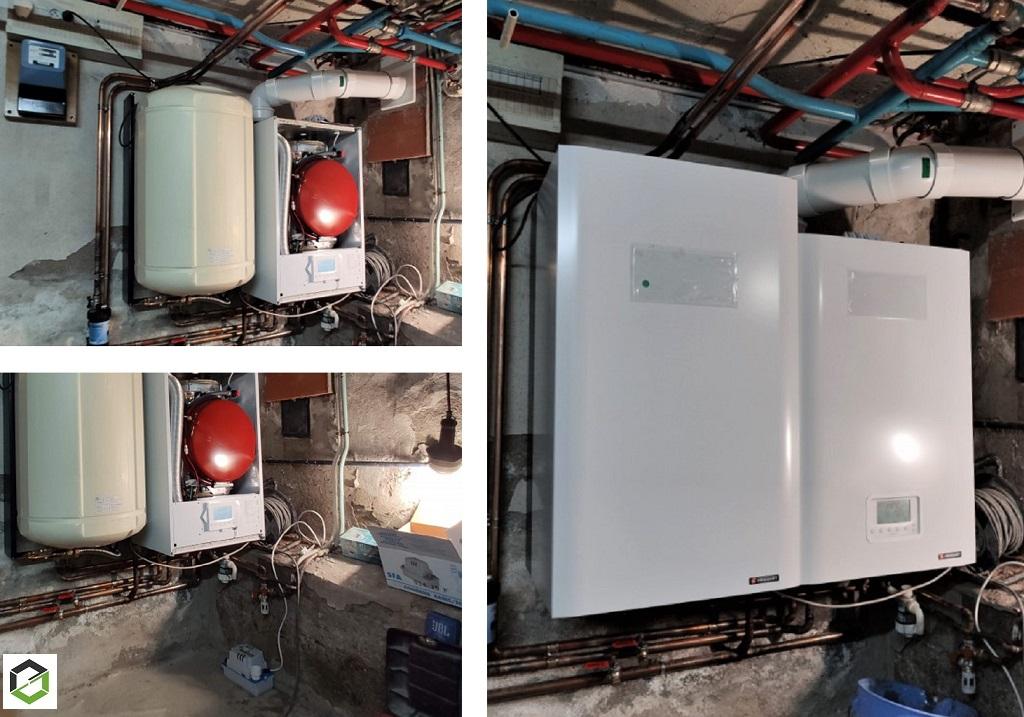 Remplacement chaudière fioul par solution gaz condensation