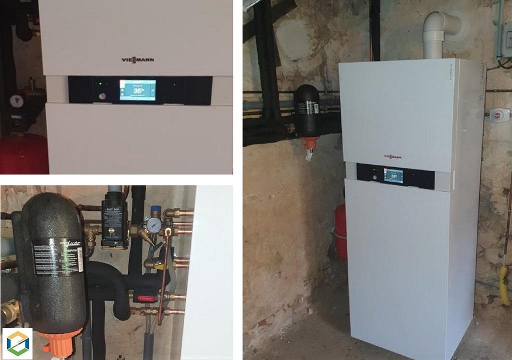 Installation chaudière gaz condensation VIESSMANN VITODENS 222 F
