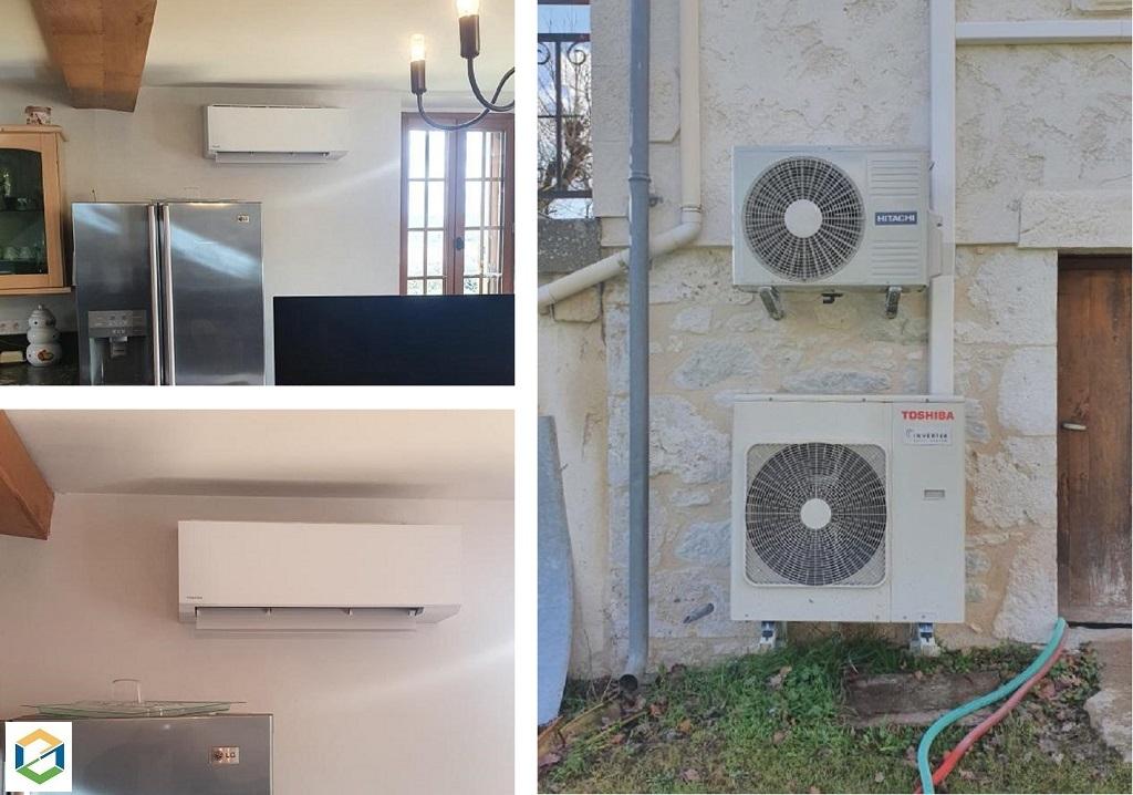 installation pompe a chaleur (Climatisation réversible - PAC Air Air) toshiba