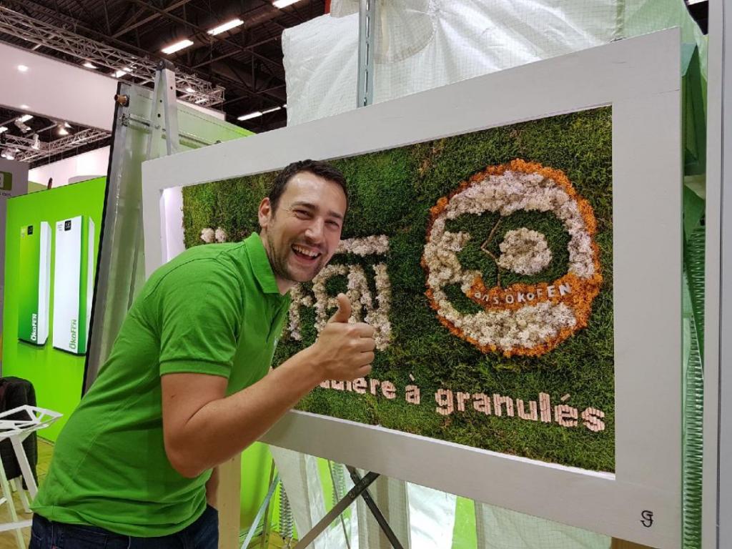 Exposition d'un cadre végétal OKOFEN pour les 30 ans à SAINT BADOLPH - SAVOIE - 73-Savoie (73)