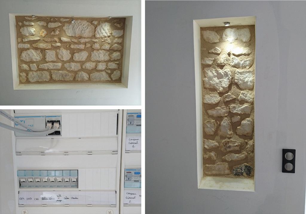 Rénovation et agrandissement - lumière spots, tableau electrique et VMC - SAINT JULIEN l'ARS - VIENNE - 86