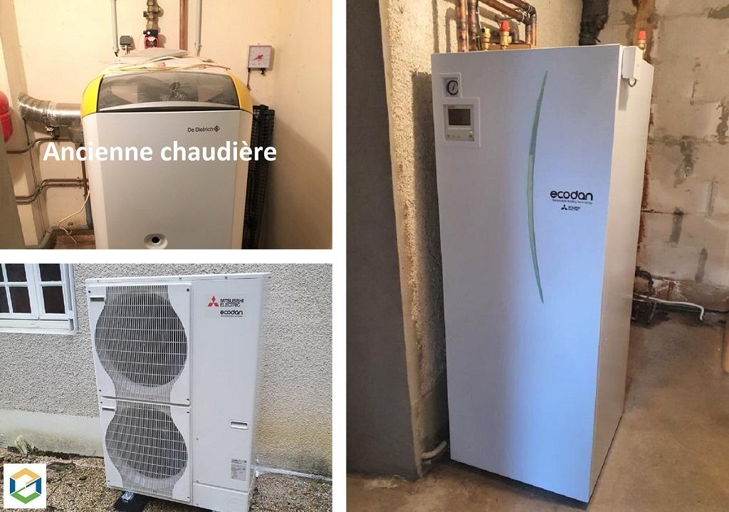 Installation d'une pompe à chaleur (PAC Air/eau)