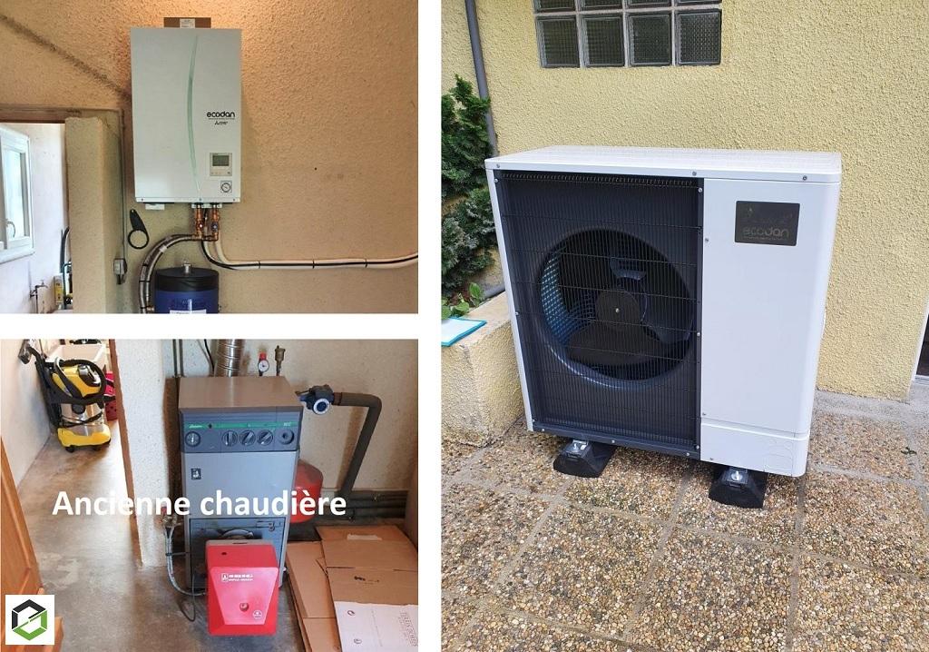 Installation d'une pompe à chaleur air/eau près de Pau