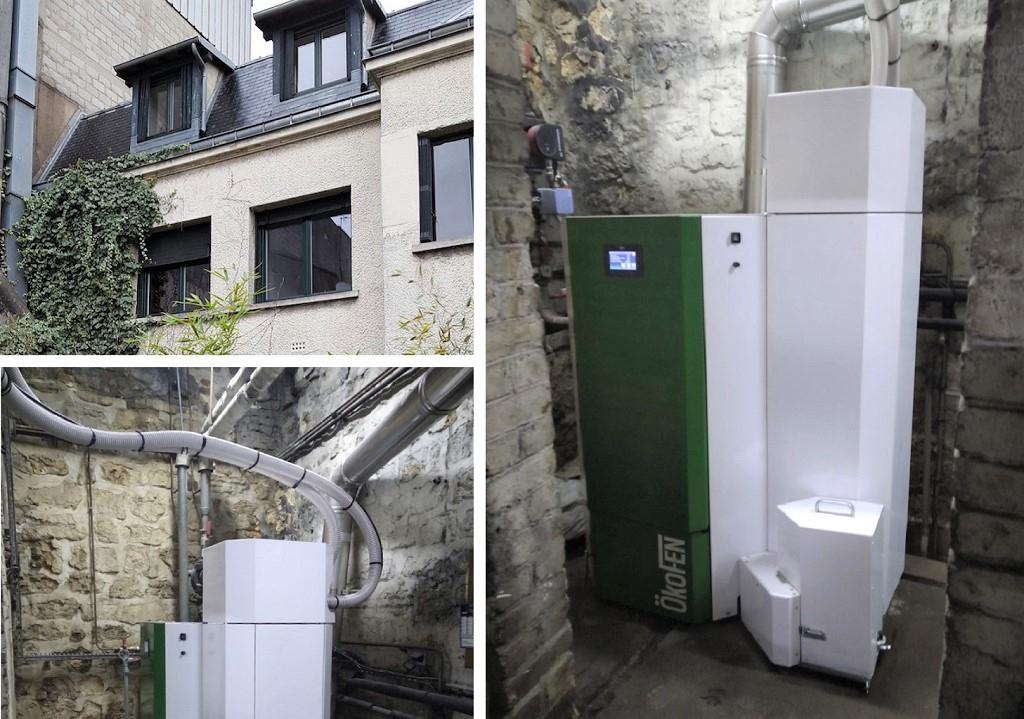 chaudière à granulés bois okofen dans un petit immeuble de 8 logements
